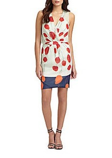 Diane von Furstenberg Jessica Silk Poppy-Print Dress