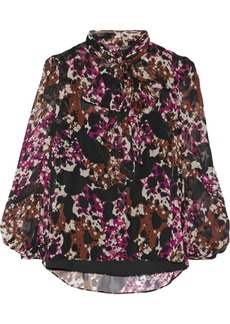 Diane von Furstenberg Jezebel printed silk-chiffon blouse