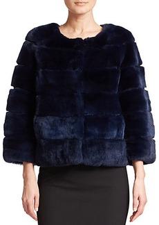 Diane von Furstenberg Joan Rex Rabbit Fur Jacket