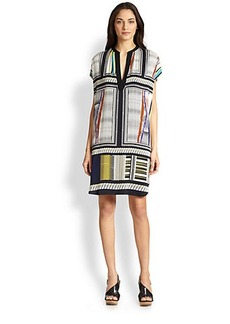 Diane von Furstenberg Joanna Short Sleeve Silk Dress