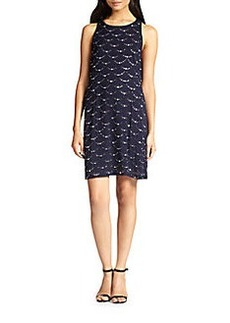 Diane von Furstenberg Jocelyn Rhinestone-Patterned Silk Dress