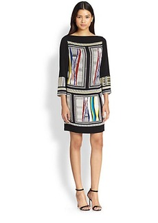Diane von Furstenberg Jocelyn Scarf-Print Silk Tunic Dress