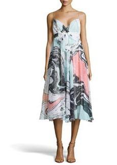 Diane von Furstenberg Jolie Spring Marble Dress