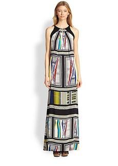 Diane von Furstenberg Jordan Stretch Silk Printed Maxi Dress