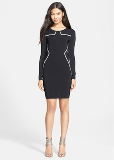 Diane von Furstenberg 'Josephine' Knit Long Sleeve Sheath Dress