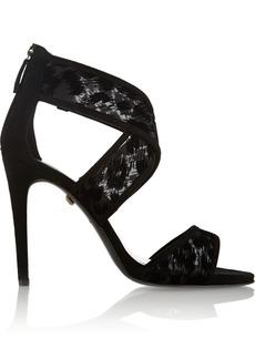 Diane von Furstenberg Jules suede and leopard-mesh sandals