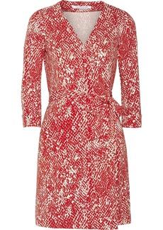 Diane von Furstenberg Julian snake-print stretch-jersey wrap dress