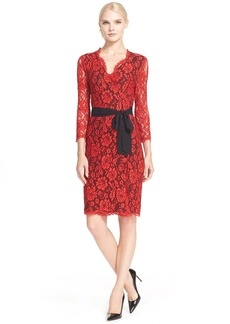 Diane von Furstenberg 'Juliana' Lace Wrap Dress