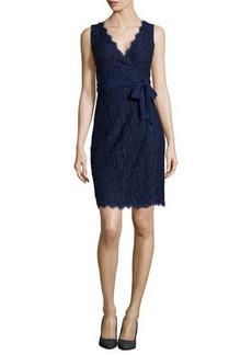 Diane von Furstenberg Juliana Sleeveless Lace Wrap Dress