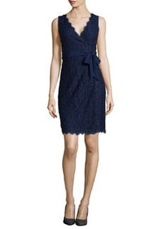 Diane von Furstenberg Juliana Sleeveless Lace Wrap Dress