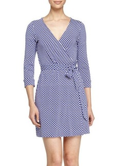 Diane von Furstenberg Jungle Diamond Knit Wrap Dress