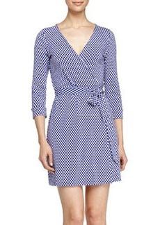 Diane von Furstenberg Jungle Diamond Knit Wrap Dress, Chrome Purple