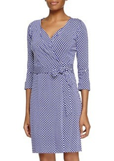 Diane von Furstenberg Jungle Diamond Knit Wrap Dress, Chrome Purple