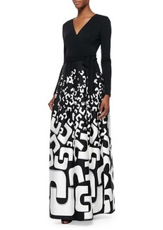 Diane von Furstenberg Kailey Tie-Waist Printed Maxi Dress