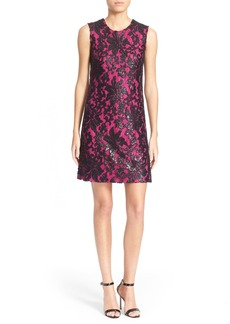 Diane von Furstenberg 'Kaleb' Embellished Lace Sheath Dress