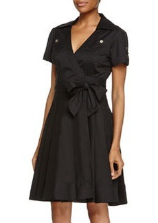 Diane von Furstenberg Kaley Blouse Wrap Dress, Black