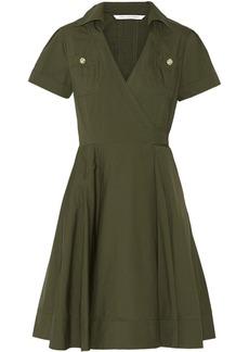 Diane von Furstenberg Kaley wrap-effect cotton-blend dress