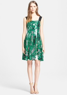Diane von Furstenberg 'Karlyn' Pleated Silk Fit & Flare Dress