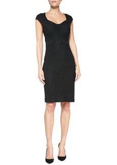 Diane von Furstenberg Katrina Cap-Sleeve Lace Sheath Dress