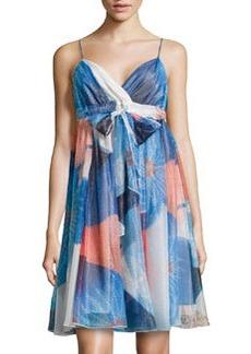 Diane von Furstenberg Kennedy Mixed-Print Shimmer Chiffon Dress, Batik Land Large
