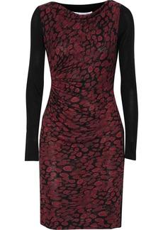 Diane von Furstenberg Kirby jersey-paneled silk dress