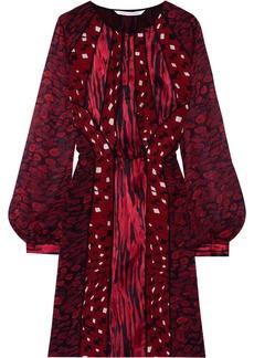 Diane von Furstenberg Kit Print Chief printed silk-chiffon dress