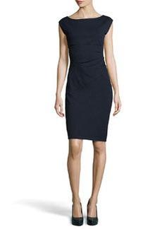 Diane von Furstenberg Knee-Length Ponte Dress, Navy