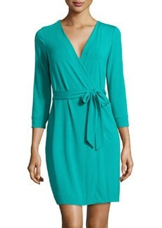 Diane von Furstenberg Knit Mini Wrap Dress, Zephyr Green