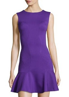 Diane von Furstenberg Knit Ruffle-Hem Sleeveless Dress, Grape Acid