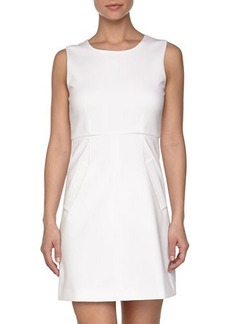 Diane von Furstenberg Knit Scoop Neck Dress; White  Knit Scoop Neck Dress; White