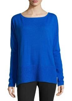 Diane von Furstenberg Knit Scoop-Neck Sweater, Blue Diamond