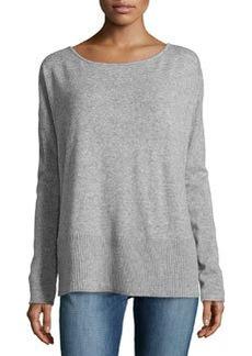 Diane von Furstenberg Knit Scoop-Neck Sweater, Gray Melange