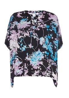 Diane Von Furstenberg Kora stretch silk-blend crepe top