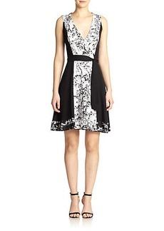 Diane von Furstenberg Kylie Printed Stretch-Silk Wrap Dress