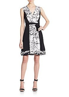 Diane von Furstenberg Kylie Stretch Silk Wrap Dress