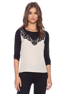 Diane von Furstenberg Lace Yoke Top