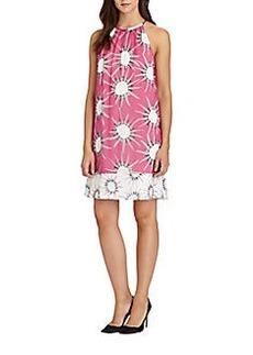 Diane von Furstenberg Lainey Mixed-Print Silk Dress