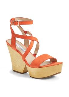 Diane von Furstenberg 'Lamille' Leather Platform Wedge Sandal (Women)