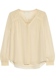 Diane von Furstenberg Lane washed-silk blouse