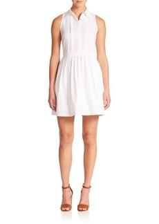 Diane von Furstenberg Lara Pleated Cotton-Blend Day Dress