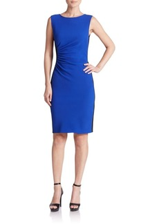 Diane von Furstenberg Laura Colorblock Sheath Dress