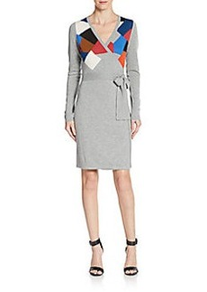 Diane von Furstenberg Leandra Wool Jersey Wrap Dress