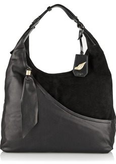 Diane von Furstenberg Leather and suede shoulder bag