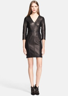 Diane von Furstenberg Leather Shift Dress