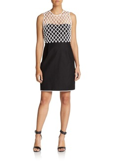 Diane von Furstenberg Leonora Two-Tone Dress