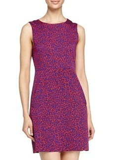 Diane von Furstenberg Leopard-Camo Print Mini-Dress, Red