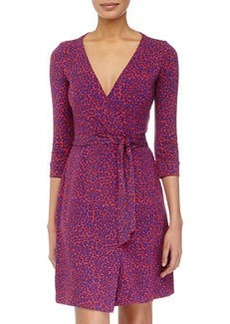 Diane von Furstenberg Leopard Camo Wrap Dress, Red