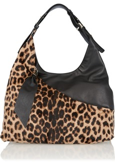 Diane von Furstenberg Leopard-print calf hair shoulder bag