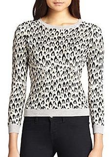Diane von Furstenberg Leopard Print Wool-Blend Sweater