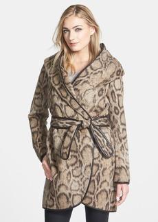 Diane von Furstenberg Leopard Print Wrap Coat